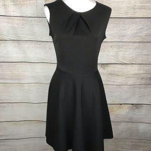 Black sleeveless fit and flare dress